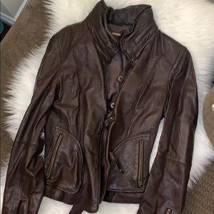 Brown Leather Danier Jacket